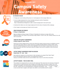 Madison College September Campus Safety Awareness Month Flyer