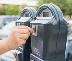 Parking at Madison College includes a limited number of metered spots.
