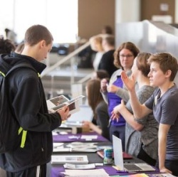 Image of on campus recruiting