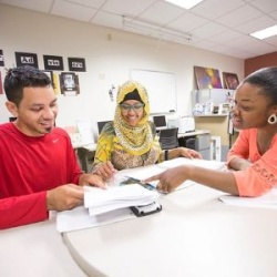 Active Students at a table