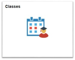 View of the Classes tile.