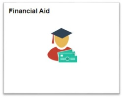 View of the Financial Aid tile.