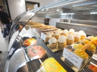 Close up of bakery counter