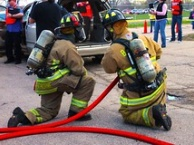 fire fighter students in training