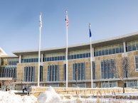 Image of Truax campus on a sunny winter day