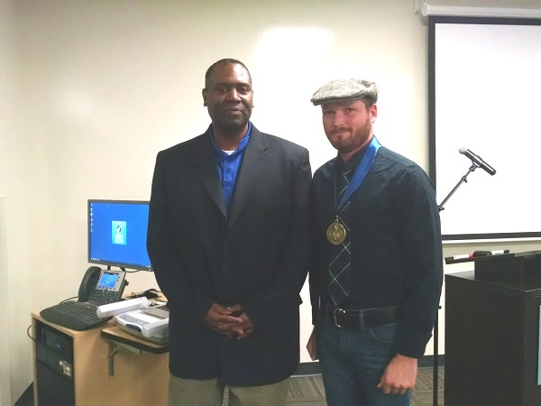 Honors Competition winner with Faculty Advisor